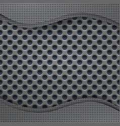 perforated metal background technology background vector image