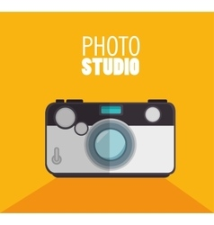 photo studio camera with shadow and yellow vector image