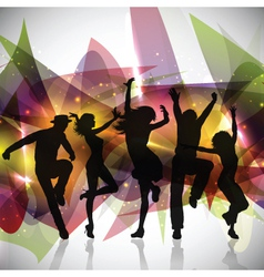 Silhouettes of people dancing vector image vector image