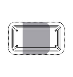 Sticker silhouette rectangle warning traffic sign vector