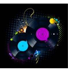 vinyl disc graffiti vector image