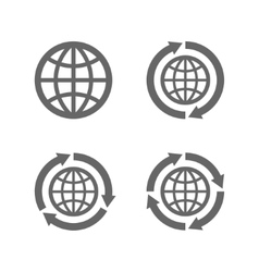 Globe earth icons as a symbol of travelling vector image vector image