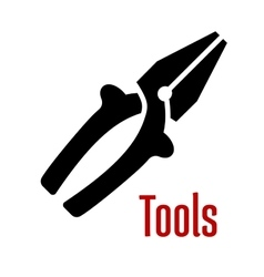 Pliers tool with wire cutter blades vector image