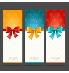 Present Card with Bow Set vector image