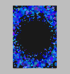 Abstract blank dispersed confetti dot poster vector