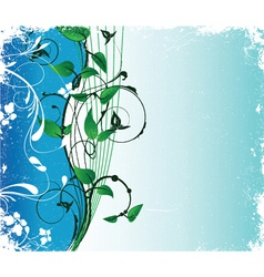 abstract floral background with space for text vector image