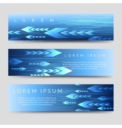 Abstract horizontal banner template with arrows vector image