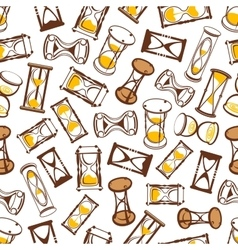 Abstract hourglasses seamless pattern background vector image