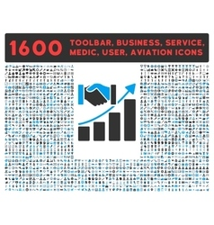 Acquisition Growth Icon with Large Pictogram vector