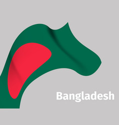background with bangladesh wavy flag vector image