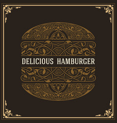 Baroque design of hamburgue vector