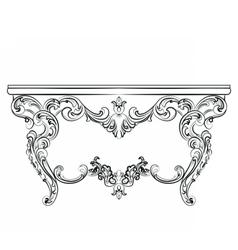 Baroque luxury style furniture vector