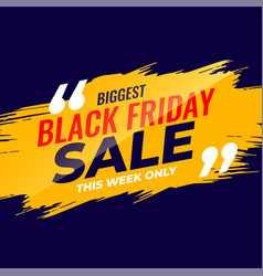 Black friday sale template for event vector