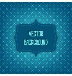 blue background with geometric seamless pattern vector image