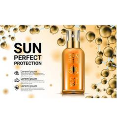 body lotion cream tubes oil spray bottle sunblock vector image