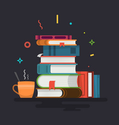 Books knowledge learning and education vector