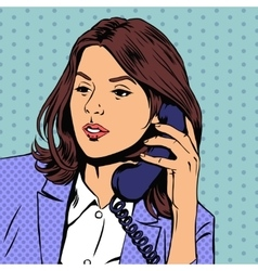 businesswoman talking on phone vector image