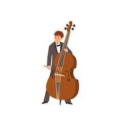 cellist man playing cello musicain playing vector image