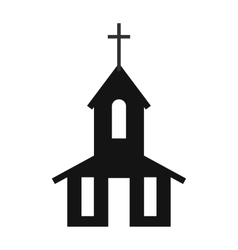 Church simple icon vector