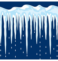 Cicles and snow vector