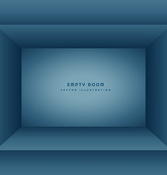 Clean empty room in blue color vector