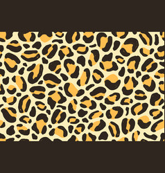 colorful african leopard animalistic fur texture vector image