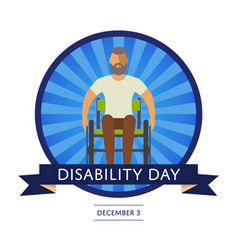 December 3 - world disability day greeting card vector