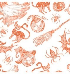 Decorative seamless monochrome pattern for vector