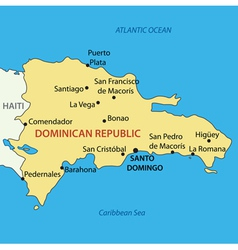 Dominican Republic - map vector