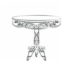 Elegant imperial classic round table vector