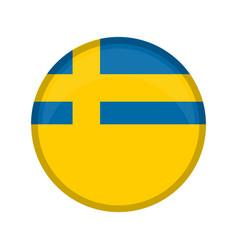 Empty sweden campaign button vector