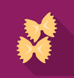 Farfalle icon pasta in flate style isolated on vector