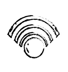 figure wifi symbol to connection in the digital vector image