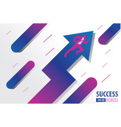flying businessman with arrows concept to success vector image