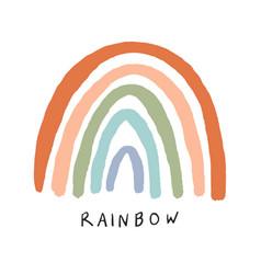 Hand drawing rainbow vector