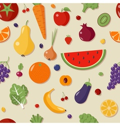 Healthy Food Seamless Pattern with Fruits vector
