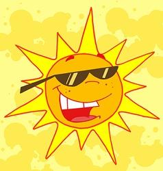 Hot Sun vector image