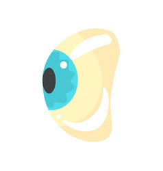 Human blue eye ophthalmology concept cartoon vector