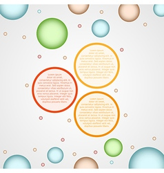 infographics - three color circle panels vector image