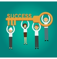 key success business concept vector image