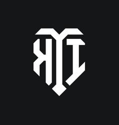 Ki logo monogram design template vector
