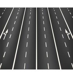 Lane road superhighway vector image