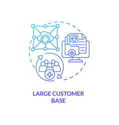 Large customer base concept icon vector