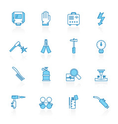 Line with blue background welding and construction vector