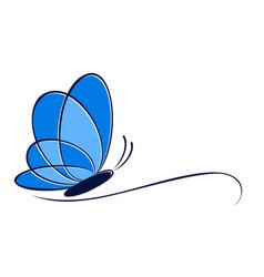 Logo butterfly vector