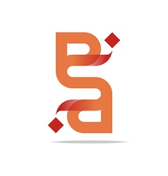 Logo Letter Infinity Alphabet Lettering A Design vector image