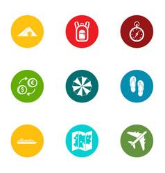 money rest icons set flat style vector image