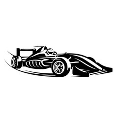Monochrome with sports racing cars vector