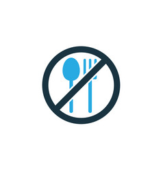 Not eating colorful icon symbol premium quality vector