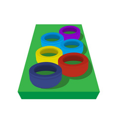 Obstacle course for children vector image
